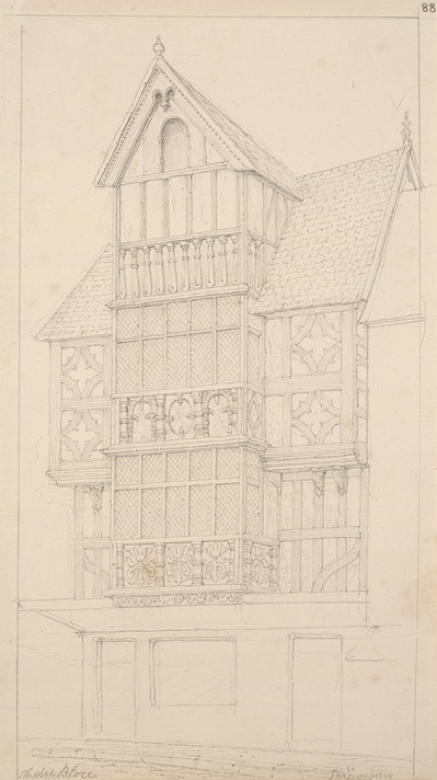 Timber-framed building, Shrewsbury f88